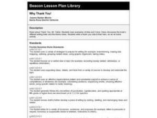Why Thank You! Lesson Plan