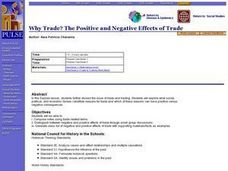 Why Trade? The Positive and Negative Effects of Trade Lesson Plan