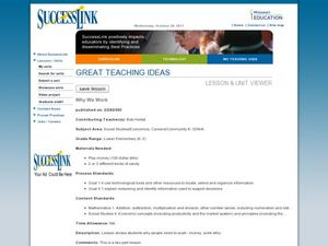 Why We Work Lesson Plan