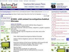 Wild Animal Investigation - Habitat Diorama Lesson Plan