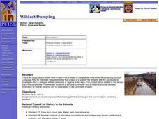 Wildcat Dumping Lesson Plan