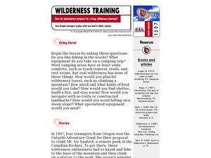 Wilderness Training Lesson Plan