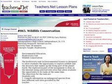 Wildlife Conservation (Senior, Science) Lesson Plan