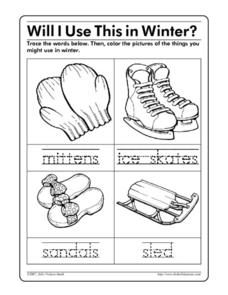 Will I Use This in Winter? Worksheet
