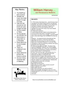 William Harvey Worksheet