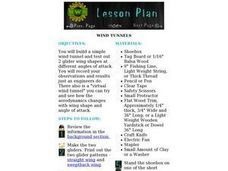 Wind Tunnels Lesson Plan