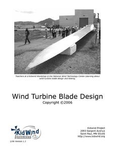 Wind Turbine Blade Design Lesson Plan