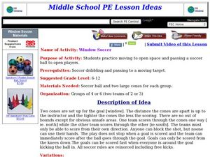 Window Soccer Lesson Plan