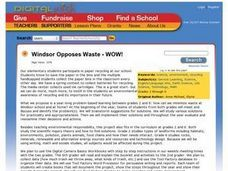 Windsor Opposes Waste - WOW! Lesson Plan