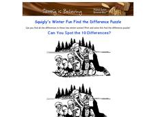 Winter Differences Worksheet