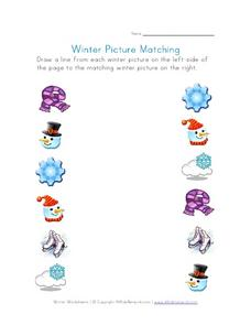 Winter Picture Matching Worksheet