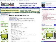 Winter Survival Kit Lesson Plan