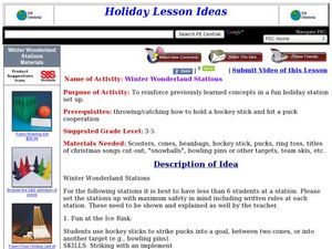 Winter Wonderland Stations Lesson Plan