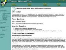 Wisconsin Weather Work: Occupational Culture Lesson Plan