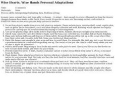 Wise Hearts, Wise Hands Personal Adaptations Lesson Plan