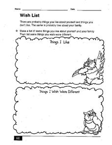 Wish List Worksheet