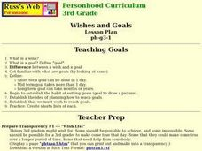 Wishes and Goals Lesson Plan