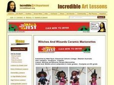 Witches and Wizards Ceramic Marionettes Lesson Plan