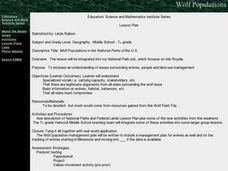 Wolf Populations in the National Parks of the U.S. Lesson Plan