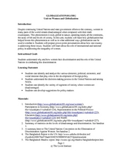 Women and Globalization Lesson Plan