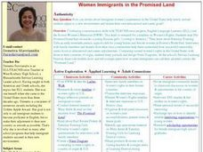 Women Immigrants in the Promised Land Lesson Plan