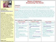Women of Substance ~ Broadcasting Their Stories Lesson Plan