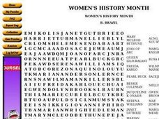 Women's History Month Worksheet
