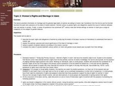 Women's Rights and Marriage in Islam Lesson Plan