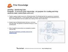 Wondering Cube Lesson Plan