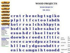 Wood Projects Worksheet