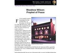 Woodrow Wilson: Prophet of Peace Lesson Plan