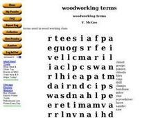 Woodworking Terms Word Search Worksheet