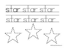 Word and Shape: Star Worksheet