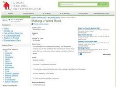 Word Books Lesson Plan