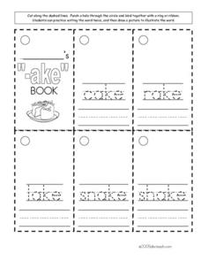 Word Families: ake Worksheet