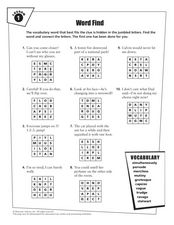 Word Find: Vocabulary Practice Worksheet