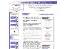 Word Fun with Timeliner Lesson Plan