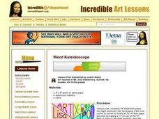 Word Kaleidoscope Lesson Plan