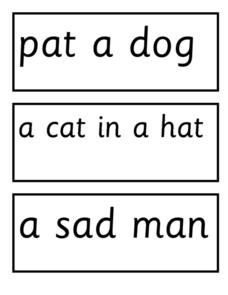 Word Phrases Associated With Pictures Worksheet