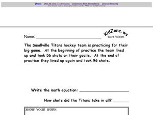 Word Problems #15 Worksheet