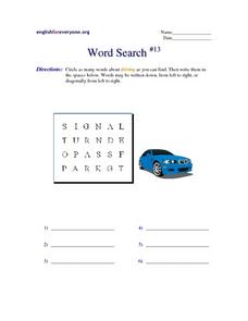 Word Search #13 Worksheet