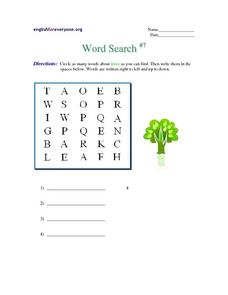 Word Search #7 Worksheet