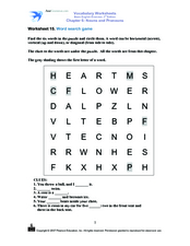 Word Search Game Worksheet