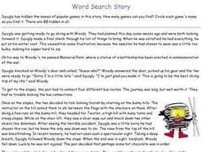 Word Search Story Worksheet
