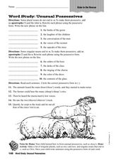 Word Study - Unusual Possessives Worksheet