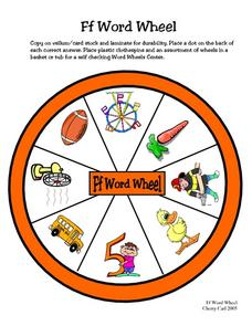 Word Wheel: F Worksheet