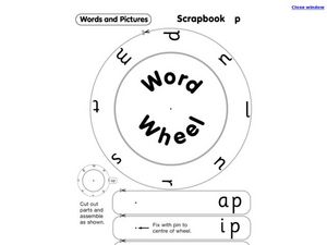 Word Wheel Worksheet