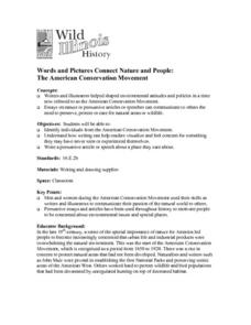 Words and Pictures Connect Nature and People: The American Conservation Movement Lesson Plan
