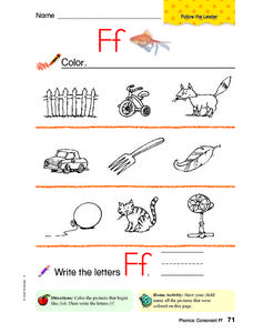 Words Beginning With Ff Worksheet