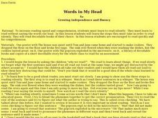 Words in My Head Lesson Plan